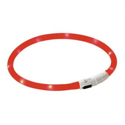 Reflex-Hundehalsband, LED-Leuchte ROT