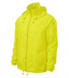 Windjacke mit Kapuze – fluoreszierende Farben, GELB