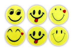 Reflektierender Aufkleber - SMILES  Pkc. 6 St.