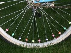 Reflex-Elemente aus Kunststoff für das Fahrrad