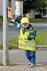 Kinder-Schildkappe mit Reflex-Elementen gelb